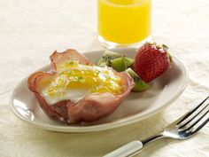 ham egg basket no carb breakfast