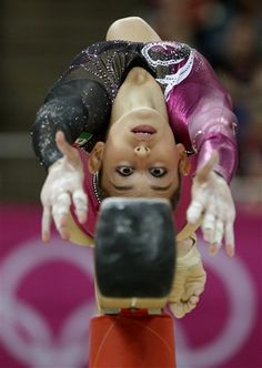 Gregory Bull  Mexican gymnast Elsa Garcia Rodriguez Blancas performs on the balance beam during the Artistic Gymnastics women's qualification at the 2012 Summer Olympics, Sunday, July 29, 2012, in London. (AP Photo/Gregory Bull)  #KyFun