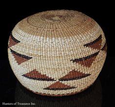 Antique Native American Hupa , Yurok or Karuk Indian Basket