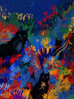 Animation and illustration by Holly Warburton Painting Inspiration, Art Inspo, Et Wallpaper, Arte Indie, Arte Sketchbook, Wow Art, Psychedelic Art, Pretty Art, Aesthetic Art
