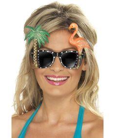 00900dbb196cca Lunettes hawaïennes adulte   Paire de lunette humoristique. Cette paire de lunette  noire est à. deguisetoi.fr