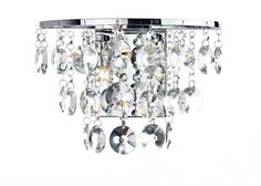 Jester 2 Light Wall Light in Polished Chrome Tiered arrangement of clear crystal glass beads and drops Polished chrome finish with clear crystal glass decoration switched with a rocker switch Double Insutated 2 x Lamps included Height Width Depth Lighting Bugs, Flush Lighting, Dar Lighting, Crystal Wall, Clear Crystal, Wall Light Fittings, Wall Spotlights, Wall Lights, Ceiling Lights