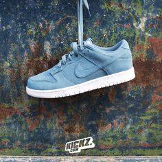 Nike Dunk Retro Low (smokey blue). One of the most iconic sneaker silhouettes ever.  #nike #dunk #kickzcom