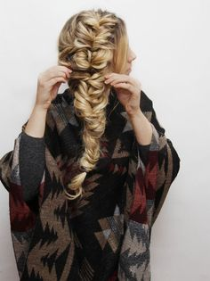 Messy Fishtail Braid Hair Tutorial | Kassinka | Bloglovin'