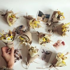 Small Yellow Bouquet of dried wild Flowers flower gift box Flower Box Gift, Flower Bar, Flower Boxes, Dried And Pressed Flowers, Dried Flowers, Yellow Bouquets, Dried Flower Arrangements, Dry Plants, Small Bouquet