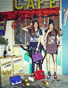 Irene Kim and Lee Seongkyeong by Lee Sujin for Ceci Korea Oct 2013