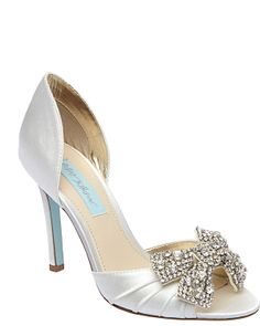 Something Blue by Betsey Johnson. I will walk down the aisle in these!