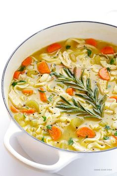 Rosemary Chicken Noodle Soup | Gimme Some Oven | Bloglovin