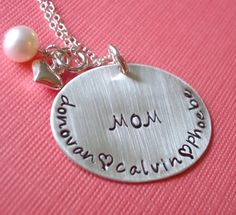 Mother's Hand Stamped Jewelry