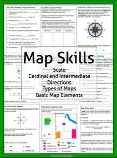 Map Skills Package | Geography | Geography worksheets, Map