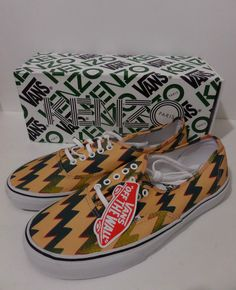 fdc0d36de349 KENZO X VANS Limited Edition Lightning Bolt Trainers Sneakers UK 10 New in  Box