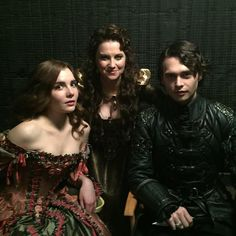 Mercy, Countess Marburg and her son Sebastian on the set of Salem. All pieces were made in our workrooms her in Louisiana and Sebastians leather jerkin was made at Serj's in Hollywood. Movie Costumes, Cool Costumes, Period Costumes, Series Movies, Movies And Tv Shows, Tv Series, Salem Series, Mary Sibley, Salem Tv Show