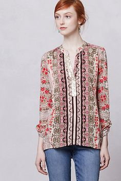 By Tiny for Anthropologie  Patchwork Meadow Top
