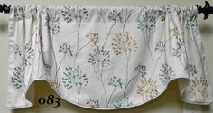 Lacefield Mist  Window Valance / Lined and Corded Rod Pocket