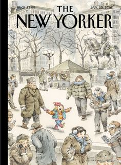 """Cover Story: John Cuneo's """"Winter Delight"""" - The New Yorker"""