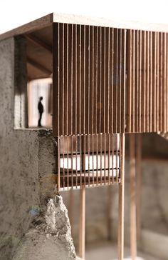 Allen Plasencia: architectural model. SHELTER FACTORY: