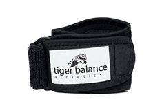 Tennis & Golfer's Elbow Brace with Extra Large Compression Pad by Tiger Balance Athletics - Best Tennis Elbow Strap Band Provides Support and Helps Ease Tendonitis and Forearm Pain *** Check out this great product.