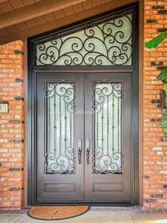 We just finished a new project in Reseda, CA, featuring our Iron Door. Our customer was looking to replace an old wooden door with something that would last. 💡 About this design: Custom Iron Door w/Transom ☎️️ 877-205-9418 🌐 www.iwantthatdoor.com Old Wooden Doors, Wrought Iron Doors, Design, Home Decor, Old Wood Doors, Decoration Home, Wrought Iron Gates, Room Decor