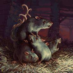 Rat King, Markus Neidel on ArtStation at http://www.artstation.com/artwork/rat-king-e98558da-30b3-4c70-8512-1448ff61661c