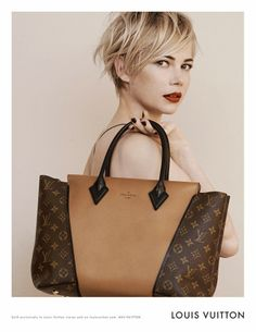 Michelle Williams: Louis Vuitton Ad Campaign Featuring The W Tote and Capucines Bag - The Trend Diaries