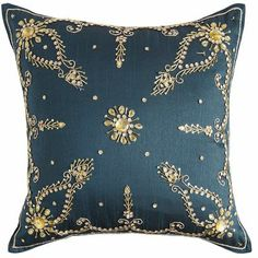 Pier 1 | $35  Jade Embellishment Pillow