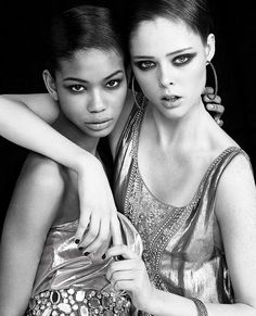Chanel Iman and Coco Rocha by Greg Kadel for Time Magazine Style & Design Spring 2007. #fashion #photography #topmodels