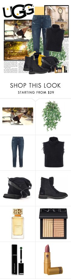 """""""The New Classics With UGG: Contest Entry"""" by polybaby ❤ liked on Polyvore featuring UGG, Rachel Comey, Tory Burch, NARS Cosmetics, Givenchy and ugg"""