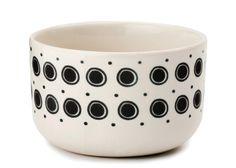 Casalinga lille skål sort farve design og kunst Tinga Tango porcelæn