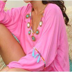 Hot Lava - blouse inca - pink