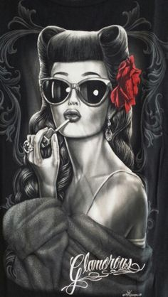 Glamorous By David Gonzales Art Canvas Giclee Retro Rockabilly Pinup Girl Vintage Inspired Lowrider Art, Mode Rockabilly, Rockabilly Fashion, Rockabilly Makeup, Rockabilly Artwork, Pin Up Girls, Pop Art Vintage, Retro Vintage, David Gonzalez