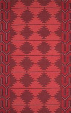 Southwest inspired cherry, poppy + burgundy Jewel Tone II rug from Surya (JTII-2069).