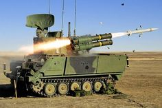 army Canadian Forces ADATS firing its missiles