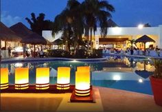 Sunscape Sabor Cozumel is even more gorgeous at night.