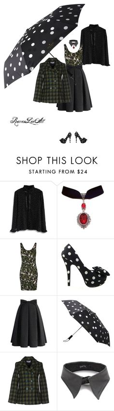 """Rain dots keep falling on my camouflage"" by ravenleeart ❤ liked on Polyvore featuring Chicwish, Topshop, Kate Spade, Aniye By and BEX nyc"