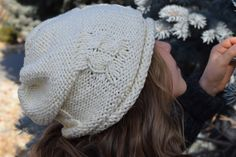 Items similar to White Double Knit Soft Cotton Cable Slouchy Hat, Girl/Teen/Woman, Made to Order on Etsy Slouchy Hat, Double Knitting, Yarn Crafts, Cable, Winter Hats, Crochet Hats, Inspired, Trending Outfits, Unique Jewelry