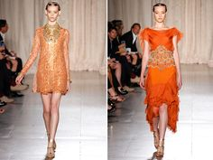 Marchesa Spring 2013, I love the short dress on the left!