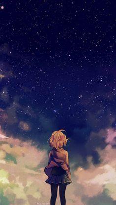 Scenery Anime : Kyoukai No Kanata Chara : Kuriyama Mirai Anime Android Wallpaper, Iphone 8 Wallpaper, Wallpaper Animes, Girl Wallpaper, Wallpapers Ipad, Unique Wallpaper, Iphone Backgrounds, Night Sky Wallpaper, Android Art