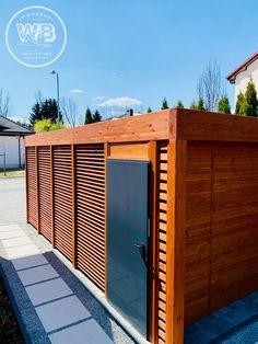 Wiata z pomieszczeniem woodbud 2021 Garage Doors, Outdoor Decor, Home Decor, Decoration Home, Room Decor, Home Interior Design, Carriage Doors, Home Decoration, Interior Design