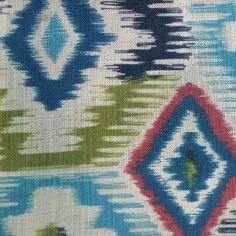 Linen Polyester Blend Digital Printed Ikat Design Sofa Fabrics on Made-in-China.com