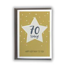 70 Today! Bee Design, Envelope, Happy Birthday, Messages, Writing, Cards, Happy Brithday, Envelopes, Urari La Multi Ani