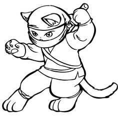 Drawing Drawings On Pinterest Ninja Cats Coloring Pages And