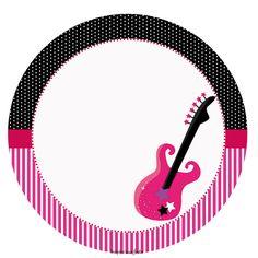 Rock Star – Artes personalizadas gratuitas – Inspire sua Festa ® Printable Box, Free Printable Invitations, Free Printables, Rock Girls, Rock Roll, Bolo Musical, Chakra Images, Sing Movie, Barbie Theme