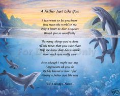 Gift For Dad Father Personalized Poem Birthday Fathers Day Gift Idea Dolphins in Home & Garden, Holidays, Cards & Party Supply, Party Supplies Dad Poems, Fathers Day Poems, Daddy Quotes, Fathers Day Gifts, Gifts For Dad, Birthday Poems, Father Birthday, Birthday Cards For Friends, Happy Late Birthday