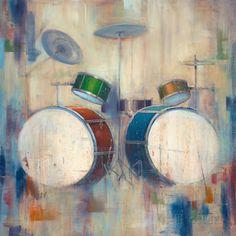 Schlagzeuge Kunstdruck