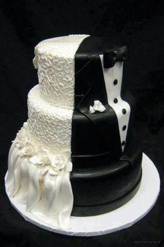 Um bolo que é a cara dos noivos :)