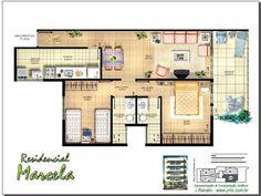 Digital Floor Plan Rendering - Unit of an apartment building