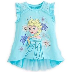 Disney Elsa Fashion Top for Girls - Frozen Baby Girl Shirts, My Baby Girl, Shirts For Girls, Tween Fashion, Little Girl Fashion, Fashion Top, Pijama Frozen, Frozen Outfits, Frozen Clothes