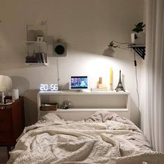Room Design Bedroom, Small Room Bedroom, Room Ideas Bedroom, Home Bedroom, Bedroom Decor, Small Rooms, Bedrooms, Minimalist Room, Pretty Room