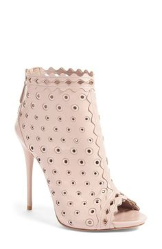 Had2B@100% MO...Alexander McQueen Perforated Open Toe Bootie (Women) available at #Nordstrom