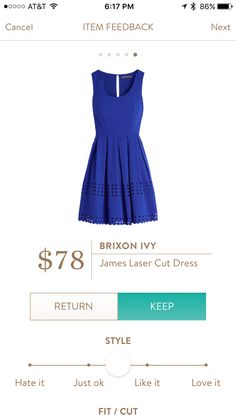 Stitch Fix Stylist: I love the blue of this dress. Would be worn to my interview next week and all over the office outside of that day!